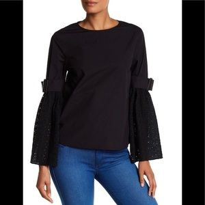 NWT  $148 Walter Baker Bell sleeves Kenneth top
